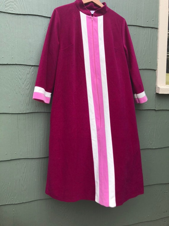 1960s color block lounge/ gown