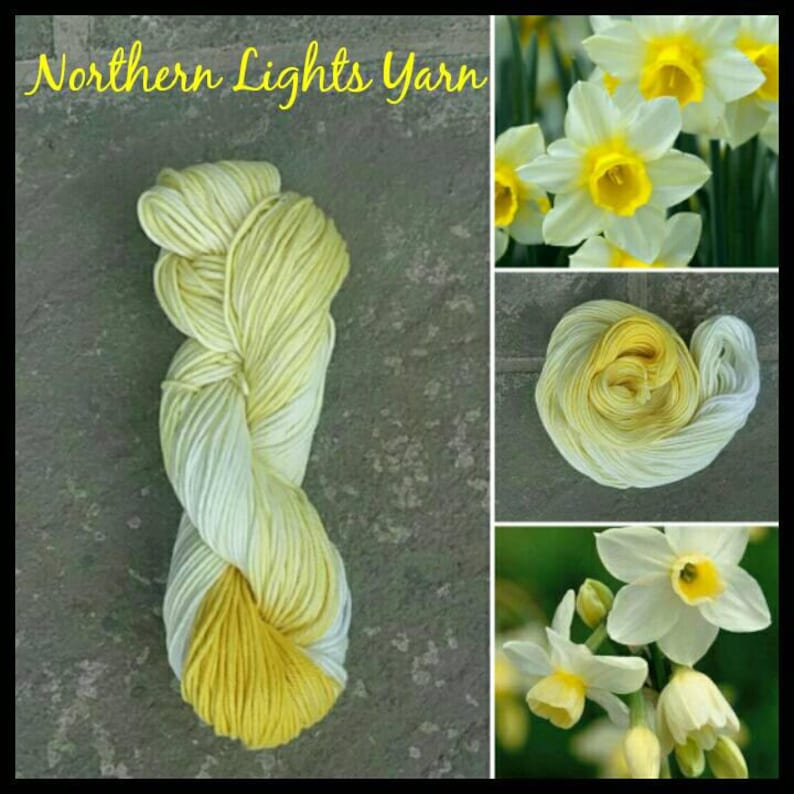 Daffodil Ombre hand-dyed cotton yarn