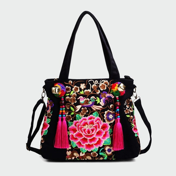Ethnic boho bags for ladies Strap top handle handbags  c324b86e134b8