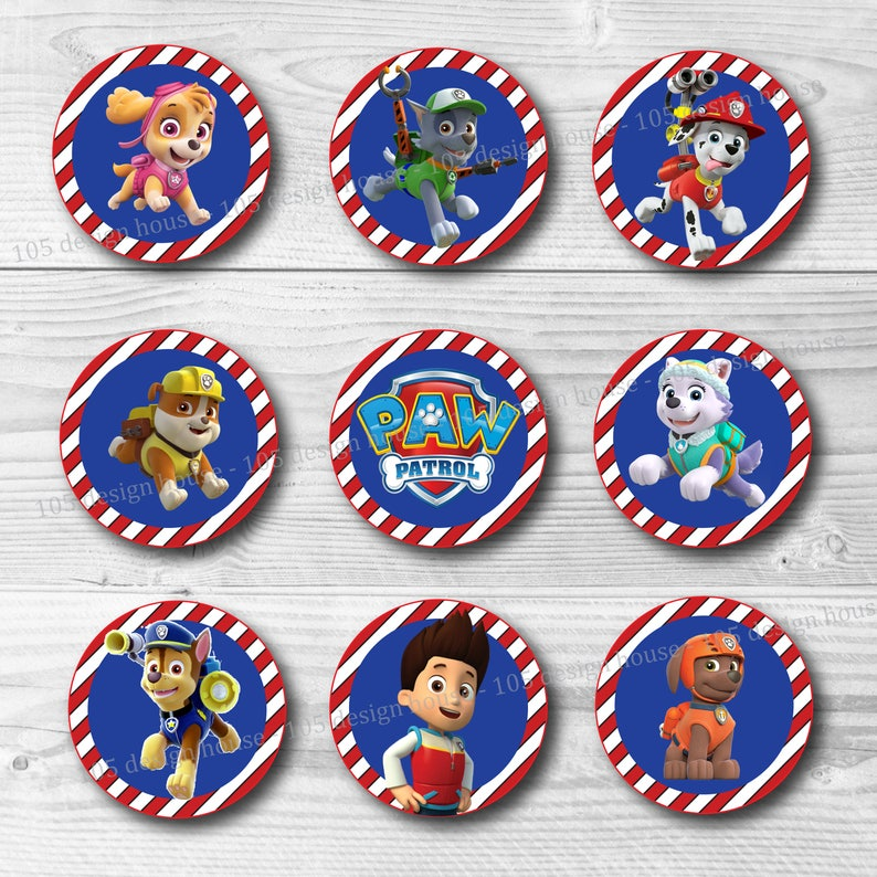 image regarding Free Printable Thomas the Train Cup Cake Toppers named Paw Patrol Cupcake Topper Printable 2\