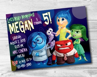 Inside Out Invitation Printable - Inside Out Birthday Party - Inside Out Invitation
