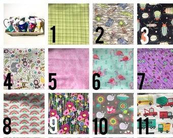 Single Flannel cotton burp cloth, cloth diaper burp cloths, Burp Rags, Feeding Rags, shower gifts, gender neutral gift, nursing