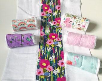 Cloth diaper, burp cloths, baby gift, baby shower gift,  Burp Rags, flannel burp cloths,  diaper burp cloths, neutrals, Feeding rags, babies