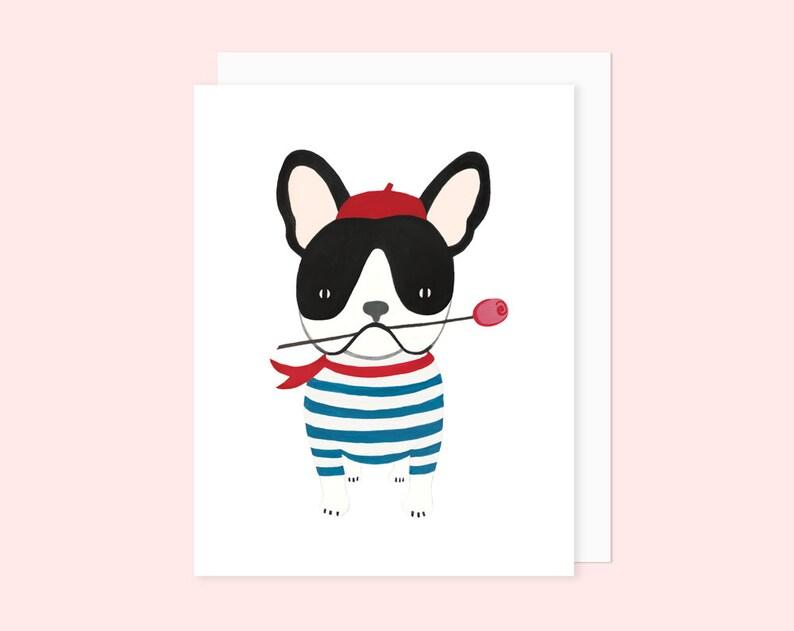 French Bulldog Valentine's Day Card  French Bulldog image 1