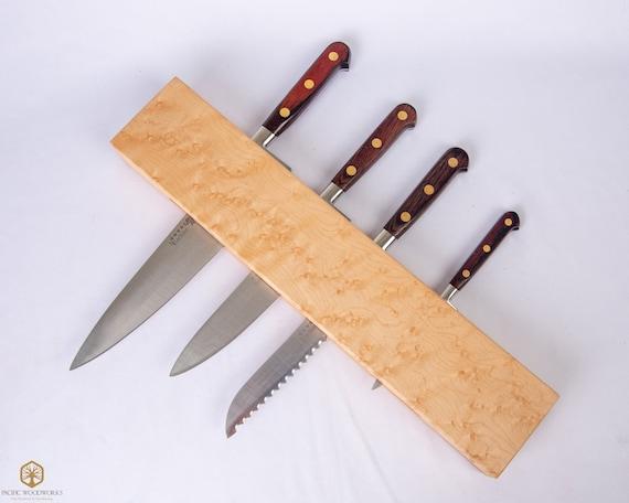 Kitchen Knife Holder, Wood Knife Rack, Wall Knife Holder, Wall Knife Block,  Carving Knife Holder, Personalized Gift, Kitchen Storage
