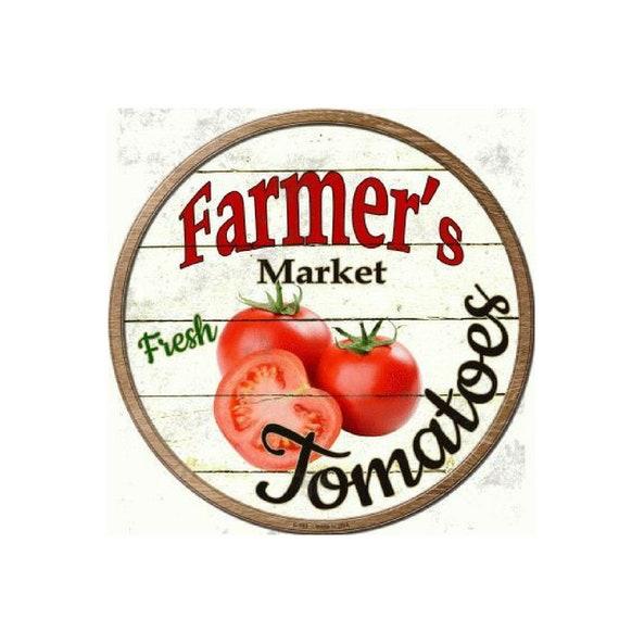 "TIN SIGN /""Farm Fresh Tomatos/"" Garden Garage Vintage Wall Decor"