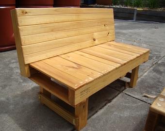 Dressed Pine Wood Handmade Bench Garden Patio Outdoor Furniture