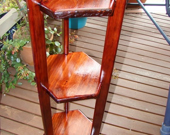 Wooden Hexagon 3 or 2 tier indoor Plant Stand