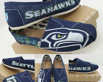 a109e7d66e06 SALE   Custom Seattle Seahawks Toms Shoes - Made to Order FREE SHPPING