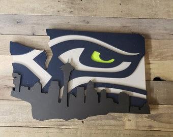 Seahawks Wood Etsy