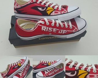 5f94901bb382 SALE  Custom Arizona Cardinals Chuck Taylors - Made to Order FREE SHIPPING