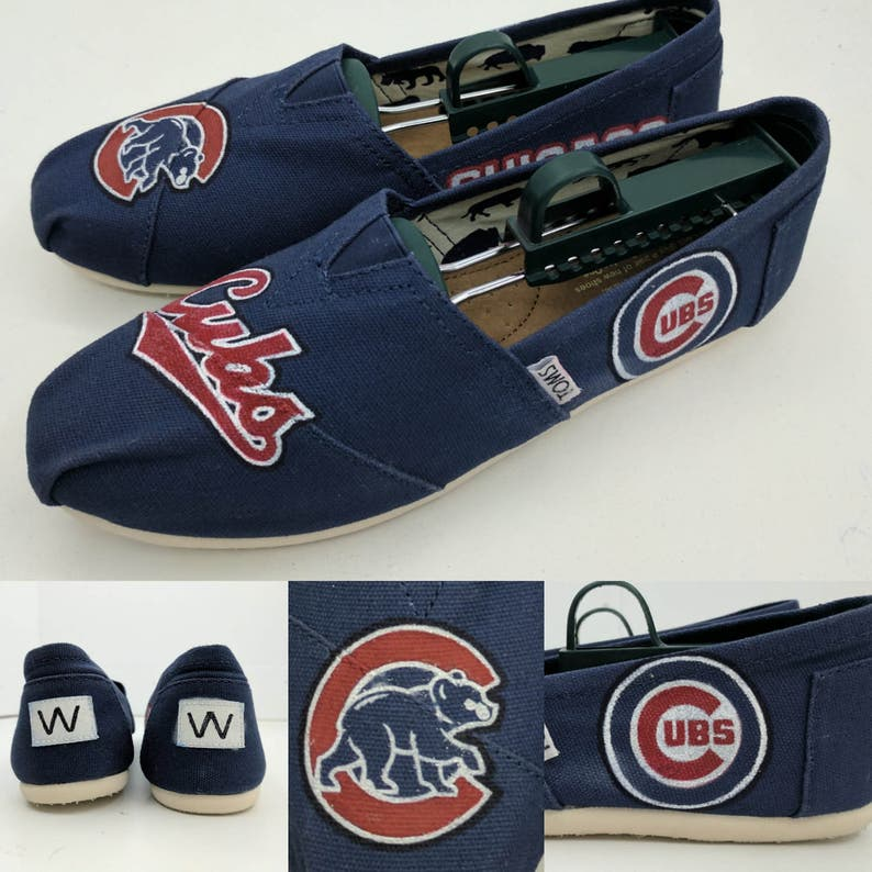 446addc69a5 SALE Custom Chicago Cubs Toms Shoes Made to Order FREE | Etsy