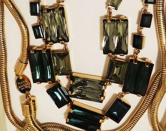 Henri Bendel New York RARE Gorgeous HUGE Multistrand Necklace.
