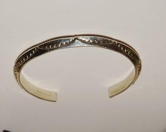 Navajo Sterling Silver 23 Grams Handmade Cuff Bracelet.