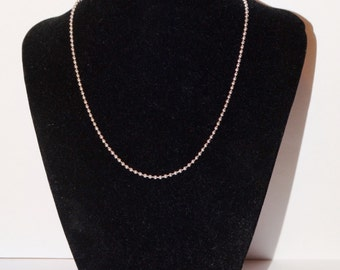 "Sterling Silver Italy Made 6 grams and 16"" Long Chain."