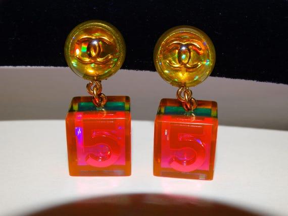 Chanel #5 Autentic VGE Iridescent Color Clip-on Da