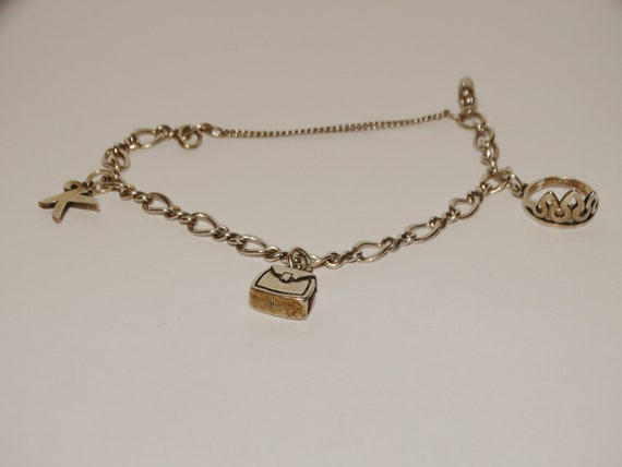 James Avery Sterling Bracelet With Three Charms
