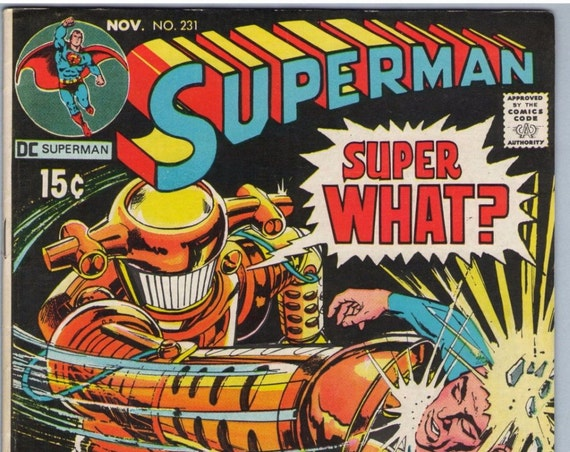 Superman 231 Nov 1970 FI- (5.5)