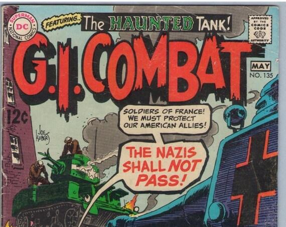 GI Combat 135 May 1969 VG- (3.5)