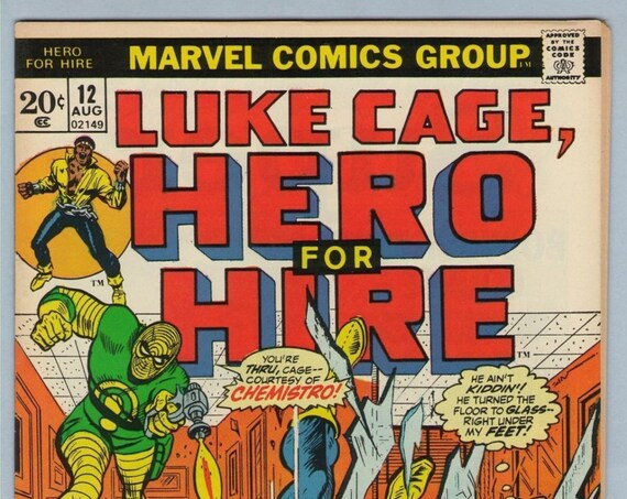 Hero for Hire 12 Aug 1973 VF+ (8.5)