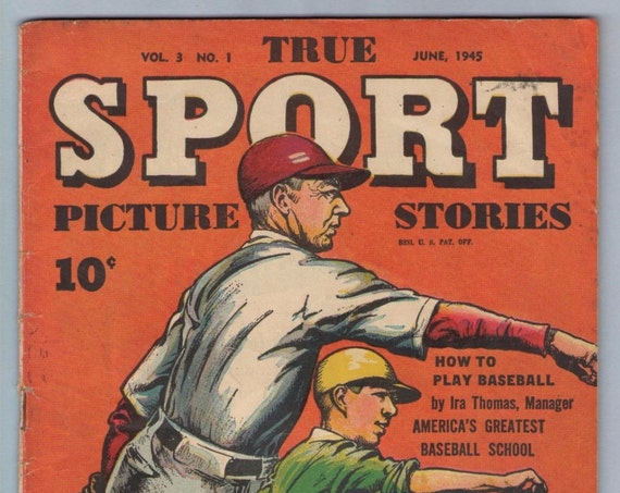 True Sport Picture Stories V3 1 Jun 1945 VG- (3.5)