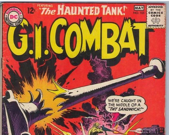 GI Combat 105 May 1964 VG- (3.5)