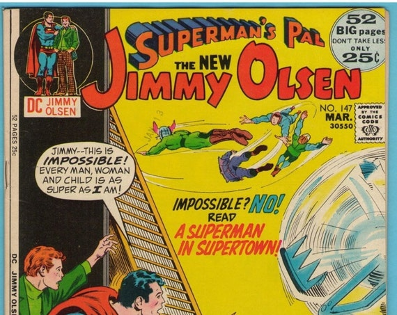 Superman's Pal Jimmy Olsen 147 Mar 1972 VF (8.0)