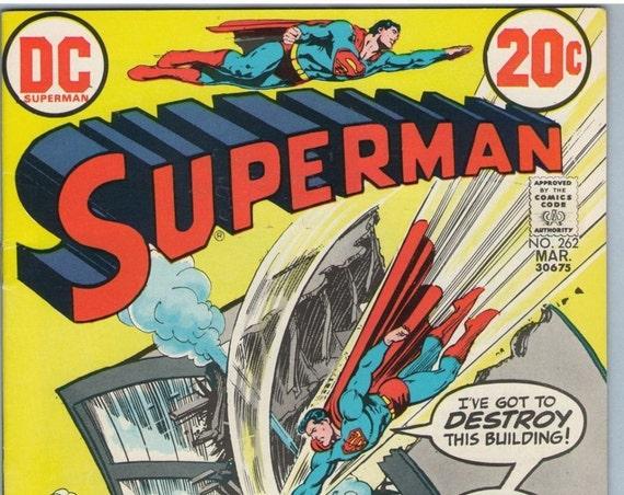 Superman 262 Mar 1973 FI-VF (7.0)