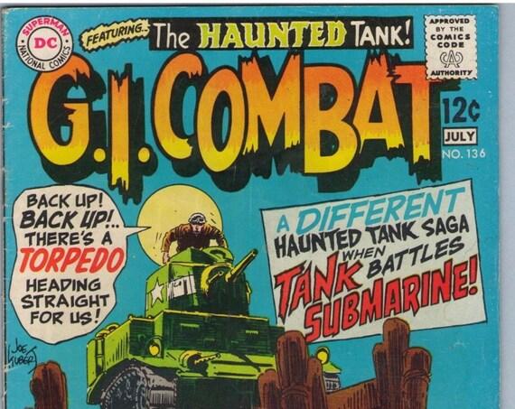 GI Combat 136 Jul 1969 VG (4.0)