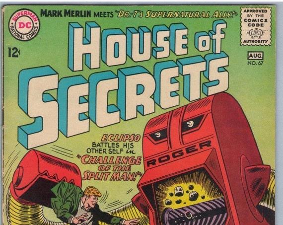 House of Secrets 67 Aug 1963 VG+ (4.5)
