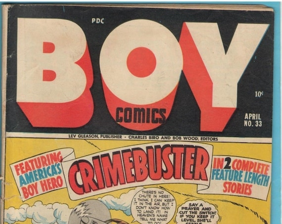 Boy Comics 33 Apr 1947 VG- (3.5)