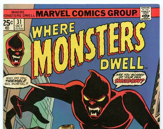Where Monsters Dwell 31 Oct 1974 VF-NM (9.0)