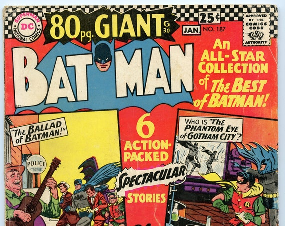 Batman 187 Jan 1967 VG (4.0)