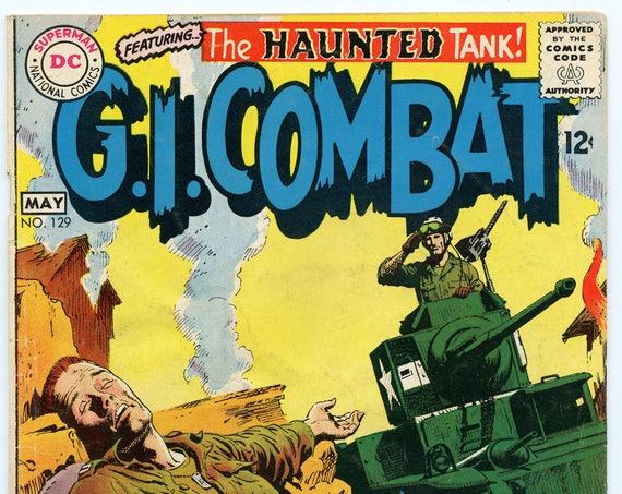 GI Combat 129 May 1968 VG- (3.5)
