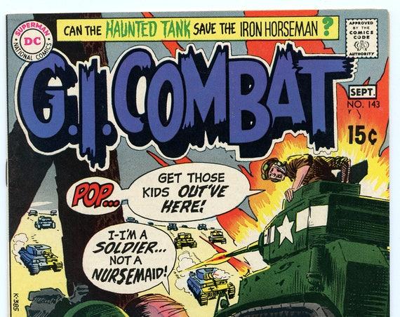 GI Combat 143 Sep 1970 FI+ (6.5)