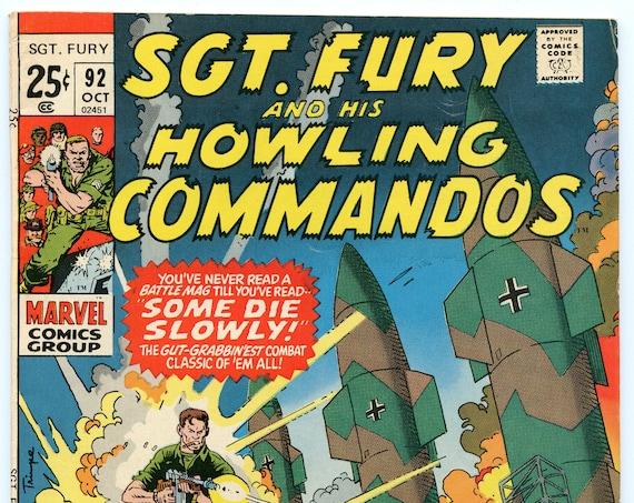 Sgt. Fury 92 Oct 1971 FI- (5.5)