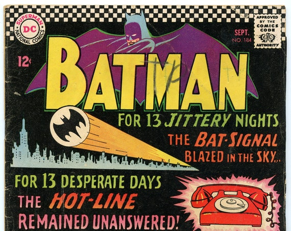 Batman 184 Sep 1966 GD+ (2.5)
