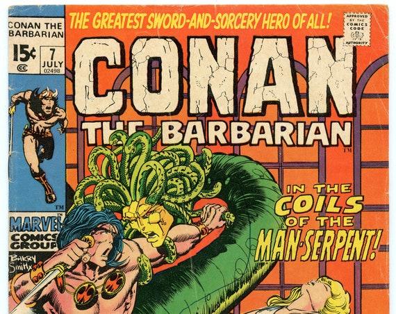Conan the Barbarian 7 Jul 1971 VG- (3.5)