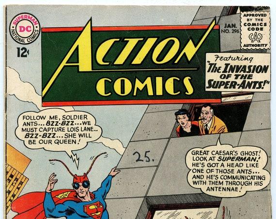 Action Comics 296 Jan 1963 VG+ (4.5)