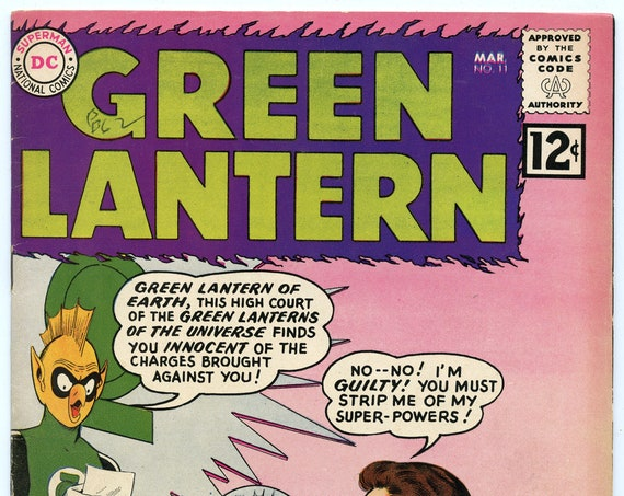 Green Lantern 11 Mar 1962 FI- (5.5)