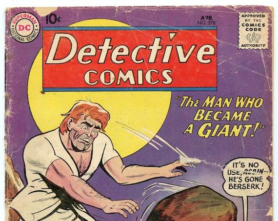 Detective Comics 278 Apr 1960 GD- (1.8)