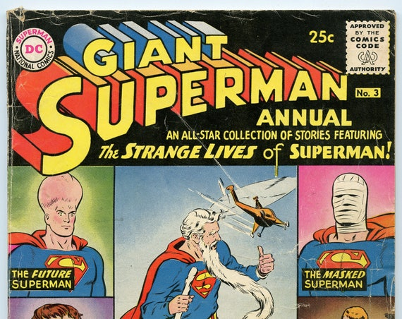 Superman Annual 3 Jun 1961 VG- (3.5)