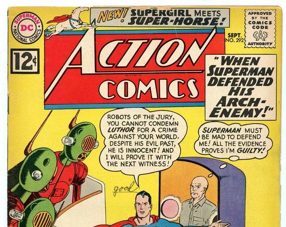 Action Comics 292 Sep 1962 VG+ (4.5)