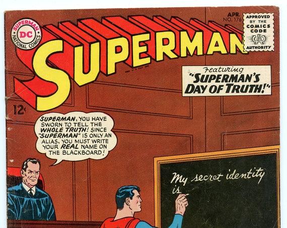 Superman 176 Apr 1965 VG+ (4.5)