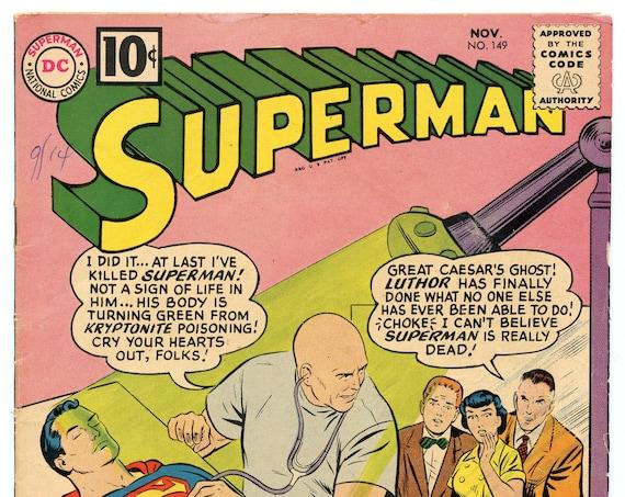 Superman 149 Nov 1961 FI- (5.5)