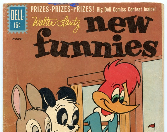 New Funnies 284 Aug 1961 VG- (3.5)
