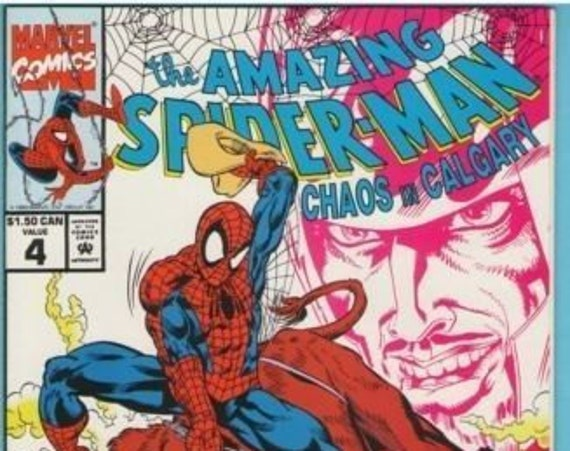 Amazing Spider-man - Chaos in Calgary 4 1991 NM- (9.2)