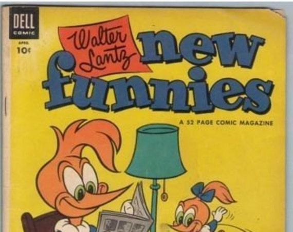 New Funnies 206 Apr 1954 VG (4.0)