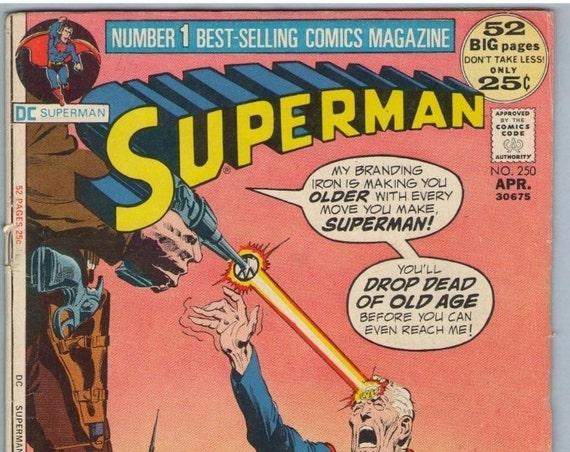 Superman 250 Apr 1972 VG (4.0)