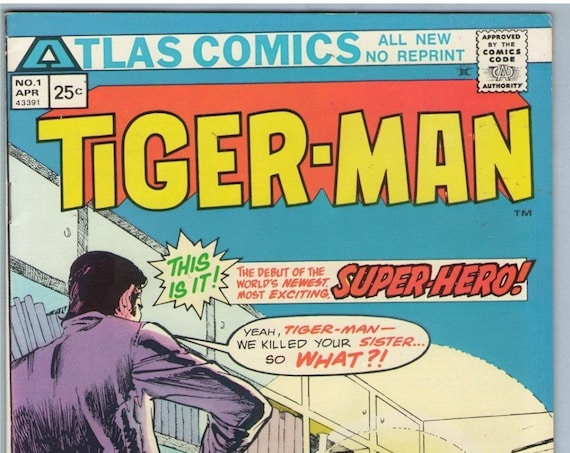 Tiger-Man 1 Apr 1975 VF (8.0)